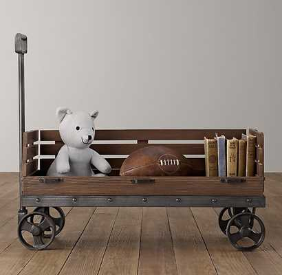 Industrial wooden wagon storage - RH Baby & Child