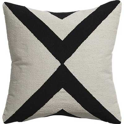 """Xbase 23"""" pillow with feather-down insert - CB2"""