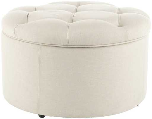 Tanisha Shoe Ottoman - Domino
