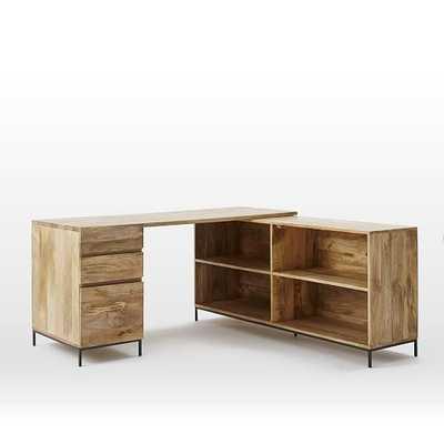 Industrial Modular Desk Set – Box File + Bookcase - West Elm
