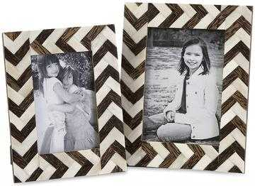 Chevron Bone Picture Frames - Set of 2 - Home Decorators