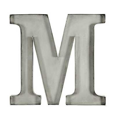 """Vintage Marquee Typesetter Plaque - Aged Bras, """"M"""" - Ballard Designs"""