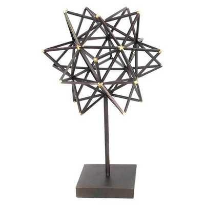 Decorative Metal Star Figurine - Brown - Target