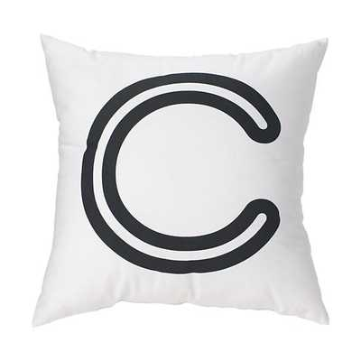 """'C' Bright Letter Throw Pillow - """"C"""" - Land of Nod"""