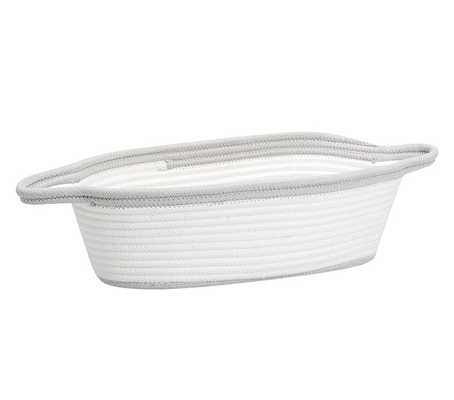 Grey Cotton Rope Changing Table Caddy - Pottery Barn Kids