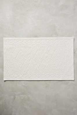 Misona Bathmat- White- Small - Anthropologie