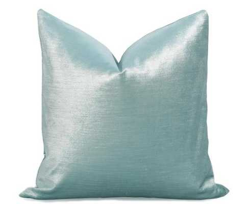 Glisten Velvet Pillow Cover - Sky Blue- 18''x 18''-Insert not included - Willa Skye