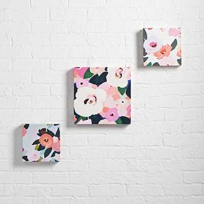 Bright Florals Wall Art (Set of 3) - Unframed - Land of Nod