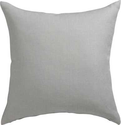 "linon grey 20"" pillow with feather insert - CB2"