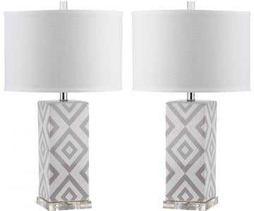 DIAMONDS TABLE LAMPS - SET OF 2 - GREY - Home Depot