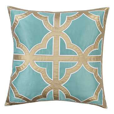 Trefle Pillow- 24''W x 24''H - Feather and down fill - Z Gallerie