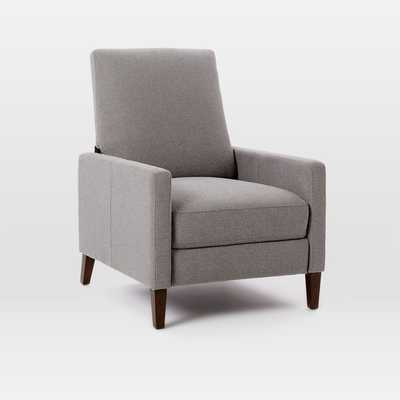 Sedgwick Recliner - Marled Microfiber, Heather Gray - West Elm