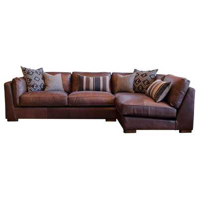 Stuart Leather Sectional Sofa - Overstock
