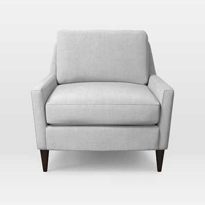 Everett Chair - Yarn Dyed Linen Weave, Ice - West Elm