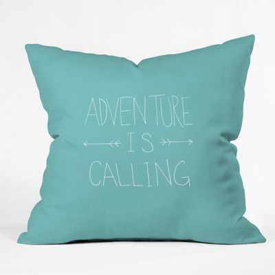 """ADVENTURE TYPOGRAPHY - 16""""x16"""" - with insert - Wander Print Co."""