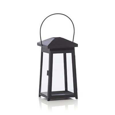Petaluma Small Black Metal Lantern - Crate and Barrel