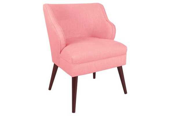 Kira Chair, Light Pink Linen - One Kings Lane