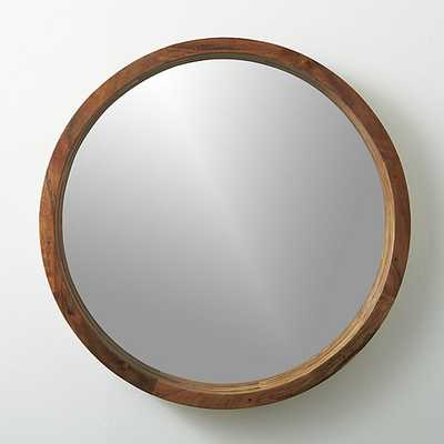 Acacia wood wall mirror - CB2
