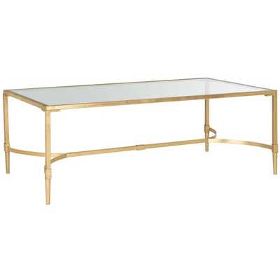 Safavieh Antwan Gold Coffee Table - Overstock