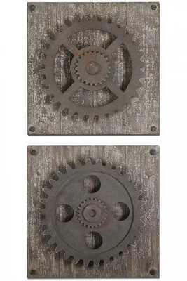 Rustic Gears - Set of 2 - Home Decorators