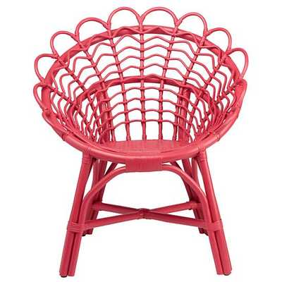 Pink Antoinette Rattan Chair - Land of Nod