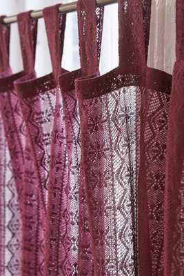 Plum & Bow Lace Curtain, Berry - 84'' - Urban Outfitters