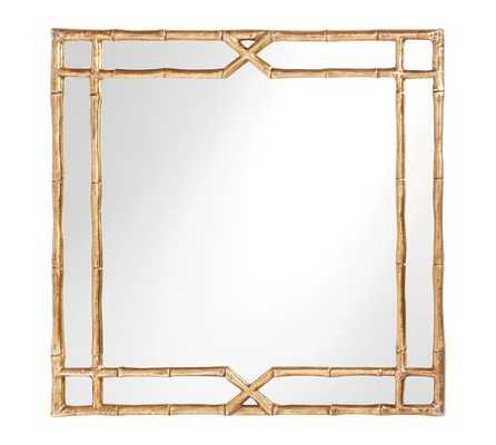 Jasmine Square Bamboo Mirror - Gold finish - Pottery Barn