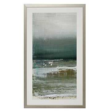 """Shallows 1 - 24.75"""" x 41.75''  - Bright Silver Frame with Mat - Z Gallerie"""