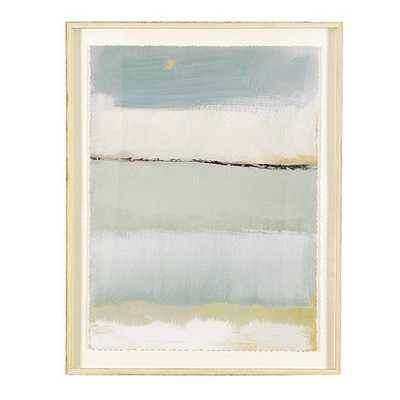 "Cote De La Mer Print I - 42"" x 31"" - Rubbed Cream Frame -  With mat - Ballard Designs"