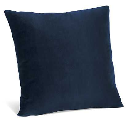 """Velvet Pillows - Indigo - 21""""w 21""""h - Feather and down insert - Room & Board"""