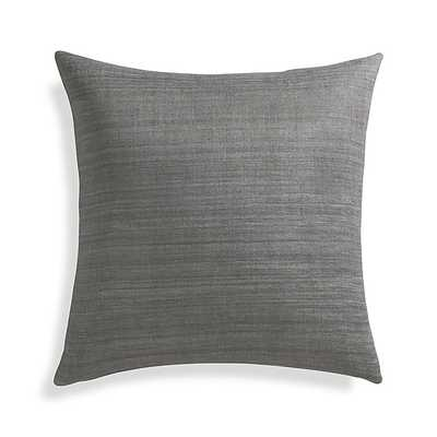 "Michaela Smoke Grey 20"" Pillow with Feather-Down Insert - Crate and Barrel"