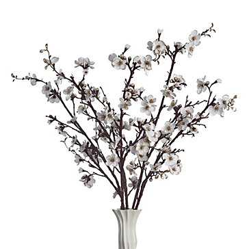 Velvet Blossom Branch - Set of 3 - Z Gallerie