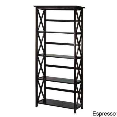 Montego 5-tier Bookcase - Espresso - Overstock