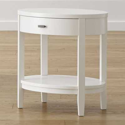 Arch White Oval Nightstand - Domino