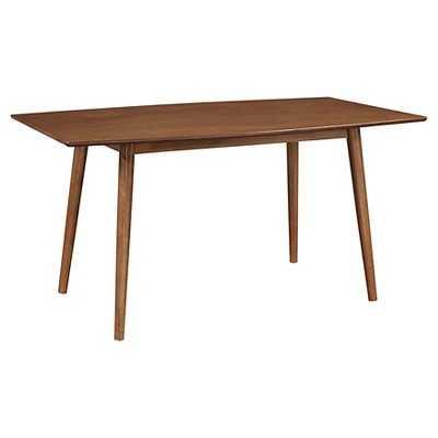 "60"" Mid-Century Dining Table - Acorn - Walker Edison - Target"