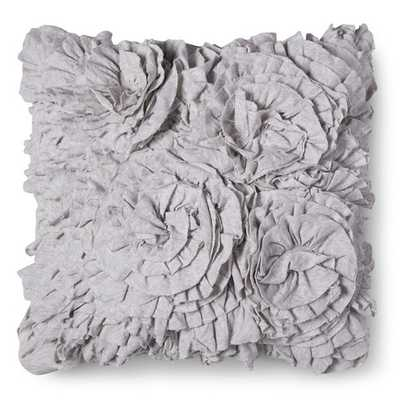 "Xhilaration® Jersey Ruffle Decorative Pillow - Gray - 16"" sq. - Polyester fill - Target"