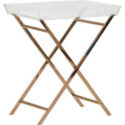 Clinton Acrylic Tray Table - High Fashion Home