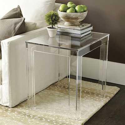 Felicity Acrylic Rectangular Side Table - Ballard Designs