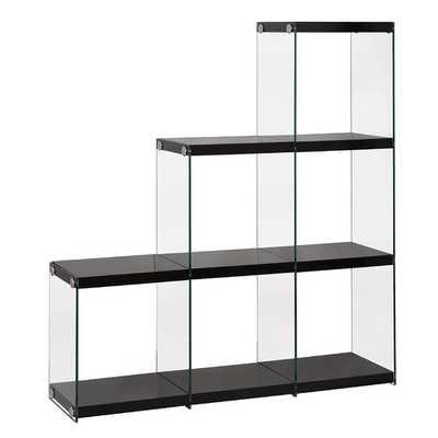 "52.5"" Cube Unit Bookcase -  Black / Clear - AllModern"