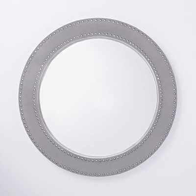 Upholstered Round Mirror - West Elm