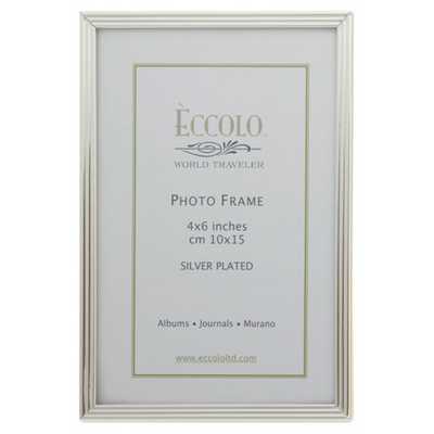 Silverplate Frame Striped 5x7 - Alma Decor