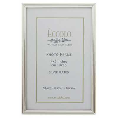Silverplate Frame Striped 8x10 - Alma Decor