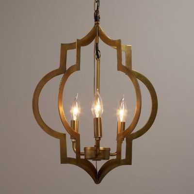 Gold Quatrefoil 3-Light Pendant Lamp - World Market/Cost Plus