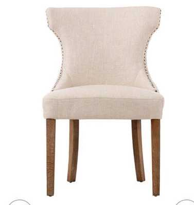 Scarlett Dining Chairs - Set of 2 - Natural Textured - Home Decorators