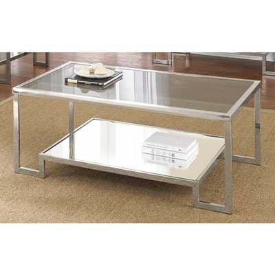 Greyson Living Cordele Chrome and Glass Coffee Table - Overstock