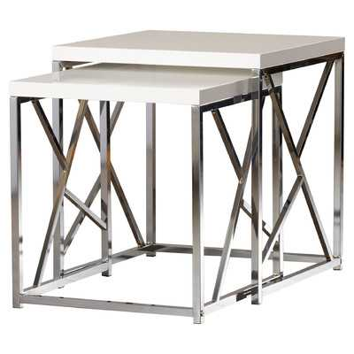 Dripping Springs 2 Piece Nesting Tables - White - Wayfair