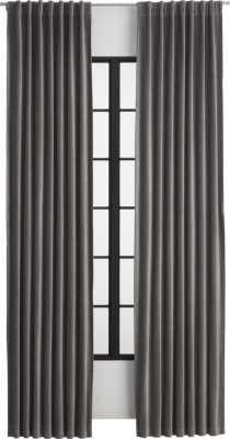 """velvet graphite curtain panel 48""""x96 - CB2"""