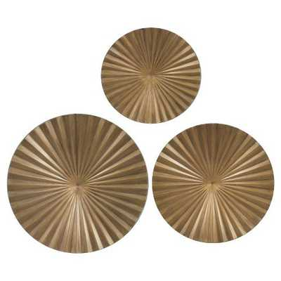 """Gold Metal Radial Wall Décor 30""""x30"""" - Set of 3 - Target"""