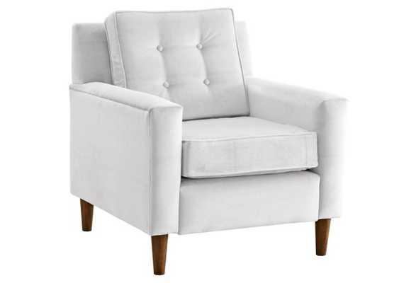 Winston Chair, White Velvet - One Kings Lane