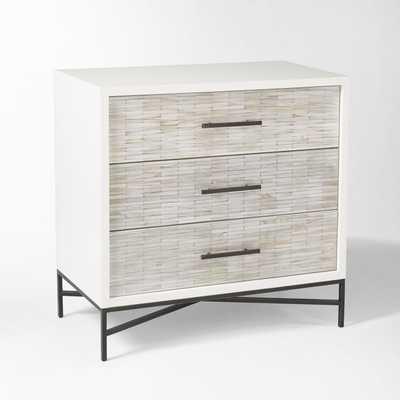Wood Tiled 3-Drawer Dresser - West Elm
